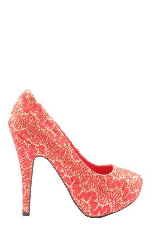 Belle Women High Heels rot-blassgelb Casual-Look
