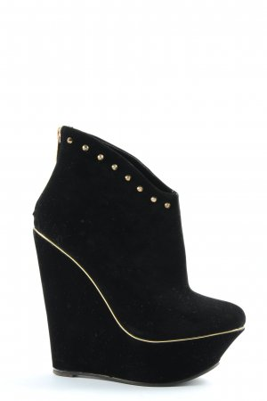 Belle Women Stivaletto con zeppa nero stile casual
