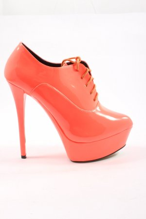 Belle Women Plateau-Pumps rot Elegant