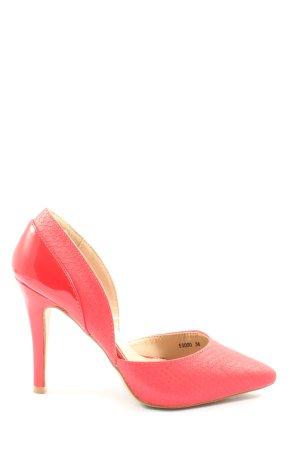Belle Women Klassische Pumps pink-rot Animalmuster Elegant
