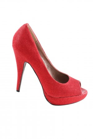 Belle Women Peeptoe Pumps rot Elegant