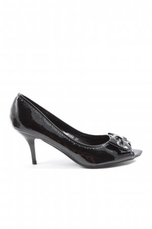 Belle Women Peep Toe Pumps black elegant