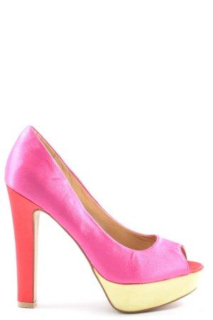 Belle Women Peeptoe Pumps pink Elegant