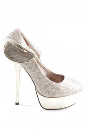 Belle Women Platform Pumps gold-colored extravagant style