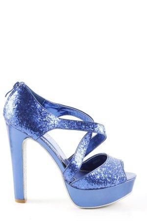 Belle Women Plateau-Pumps blau Elegant