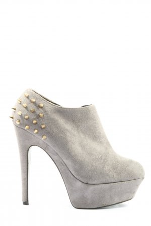 Belle Women Zipper Booties light grey extravagant style