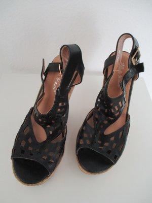 Belle Women Platform High-Heeled Sandal black-nude