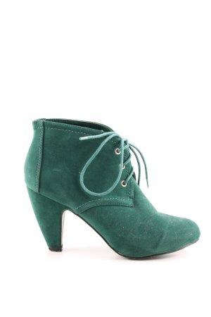 Belle Women Stivaletto stringato verde stile casual