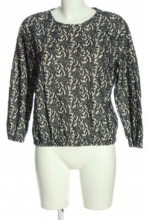 Bellerose Fine Knit Jumper black-natural white abstract pattern casual look