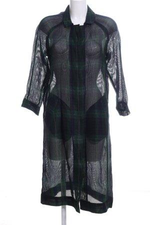 Bellerose Cappotto corto nero-cachi motivo a quadri stile casual