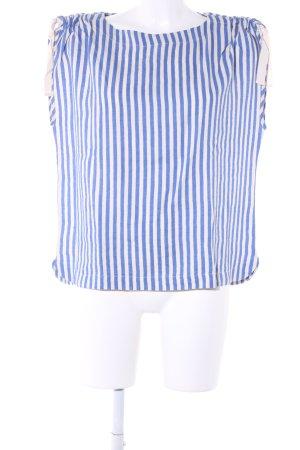 Bellerose Camicia oversize bianco-blu motivo a righe stile casual
