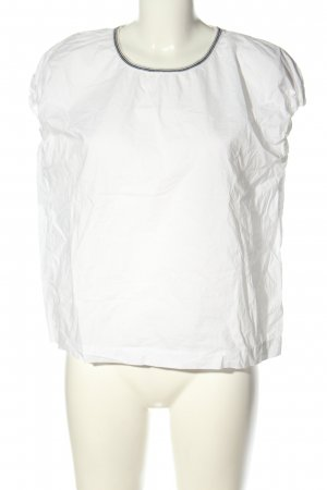 Bellerose Schlupf-Bluse weiß schlichter Stil