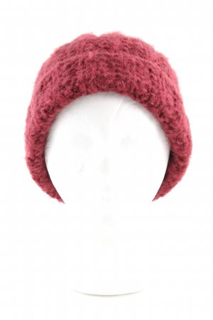 Bellerose Strickmütze rot Zopfmuster Casual-Look
