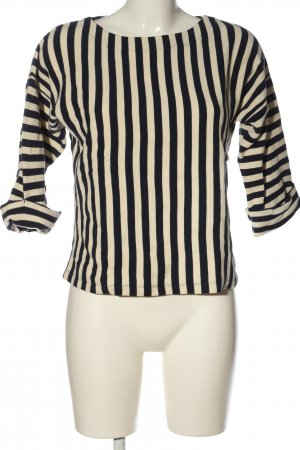 Bellerose Sweat Shirt black-natural white striped pattern casual look