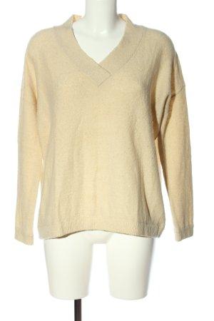 Bellerose Maglione con scollo a V bianco sporco elegante