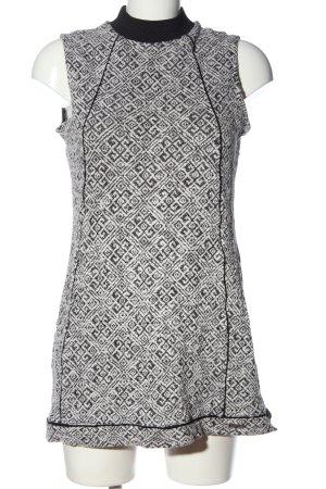 Bellfield Mouwloze blouse wit-zwart volledige print casual uitstraling