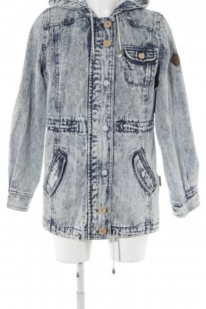 Bellfield Kapuzenmantel himmelblau-dunkelblau Jeans-Optik