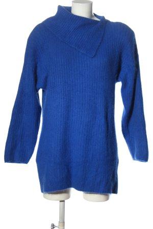 BELLINI Długi sweter niebieski Wzór w paski W stylu casual