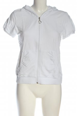 Bellísima Blusa con capucha blanco look casual