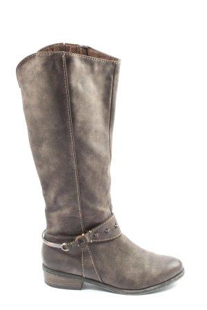 Bellísima Wide Calf Boots light grey casual look