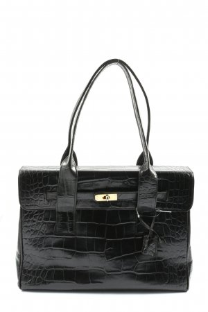 Bellissima Creation Handbag black animal pattern business style