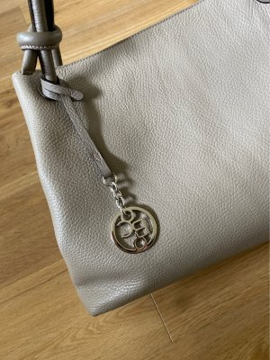 Bellissima Creation Handbag grey brown leather