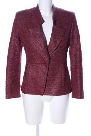 Bellissima Kurz-Blazer rot-schwarz Allover-Druck Casual-Look