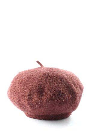 Bellissima Cappello con pon pon rosso stile casual