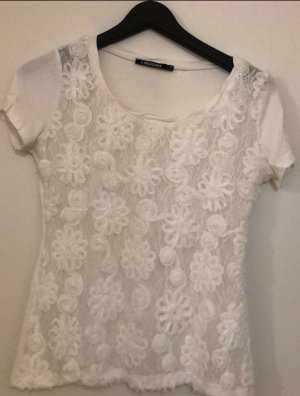 Bellissima Siateczkowa koszulka biały