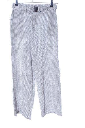 Bellissima Stoffen broek wit-lichtgrijs volledige print casual uitstraling