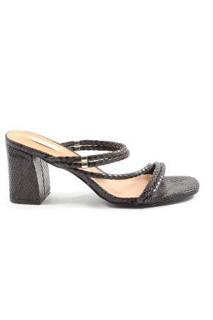 Bellucci Heel Pantolettes black animal pattern casual look