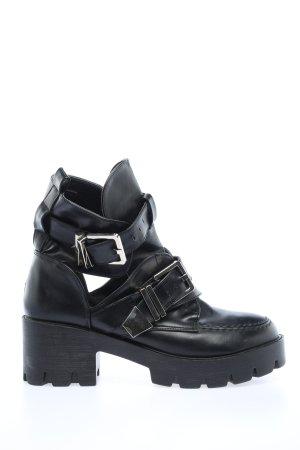 Bellucci Botki z wycięciem czarny W stylu casual