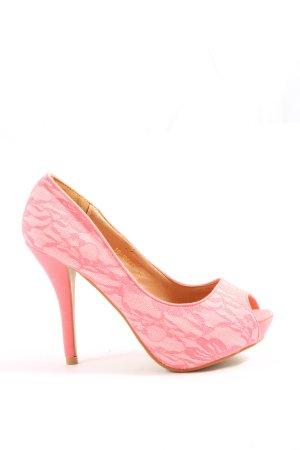 Bellucci Peep Toe Pumps natural white-pink elegant