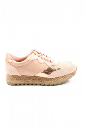 Bellucci Lace-Up Sneaker nude-gold-colored casual look