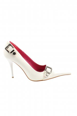 Bellucci Pointed Toe Pumps white elegant
