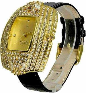 BELLUX Reloj con pulsera de cuero multicolor