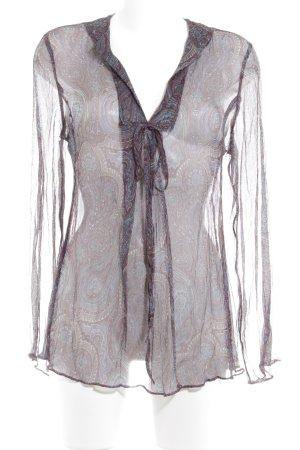 Bellybutton Transparenz-Bluse florales Muster Transparenz-Optik