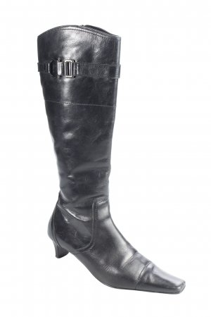 Belmondo Absatz Stiefel schwarz Schnallenelemente
