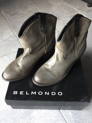 Belmondo Ankle Boots gold-colored-silver-colored leather