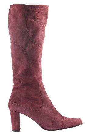 Belmondo High Heel Stiefel rot Business-Look