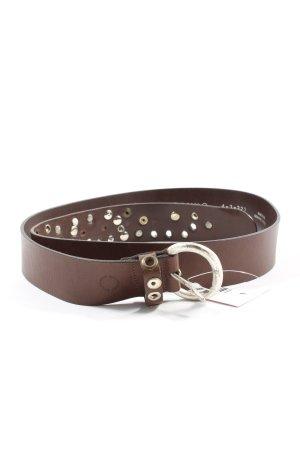 Belmondo Cinturón de cuero marrón estilo «business»