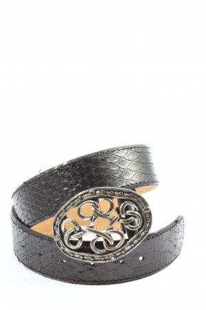 Belmondo Cintura di pelle nero stile casual
