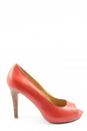 Belmondo Peeptoe Pumps rot Casual-Look