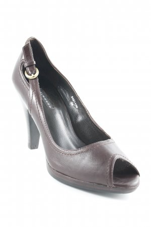Belmondo Peeptoe Pumps dunkelbraun Business-Look