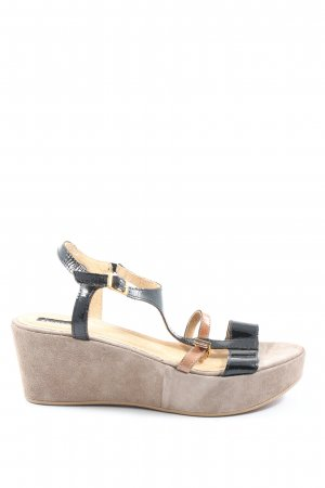 Belmondo Plateauzool sandalen zwart-wolwit casual uitstraling