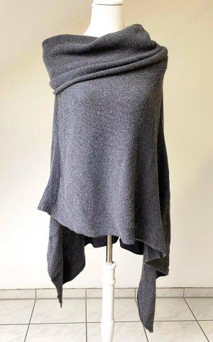 Belmondo Poncho in maglia grigio-grigio scuro