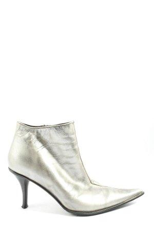 Belmondo Reißverschluss-Stiefeletten silberfarben-schwarz extravaganter Stil