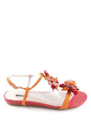 Belmondo Riemchen-Sandalen mehrfarbig Fransenbesatz