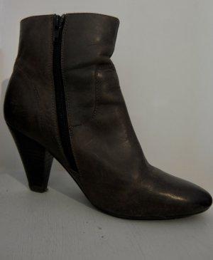 Belmondo Botines de invierno marrón oscuro-marrón-negro Cuero