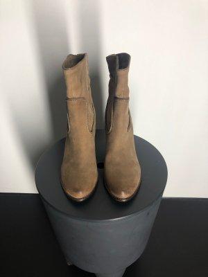 Belmondo Botines estilo vaquero marrón claro